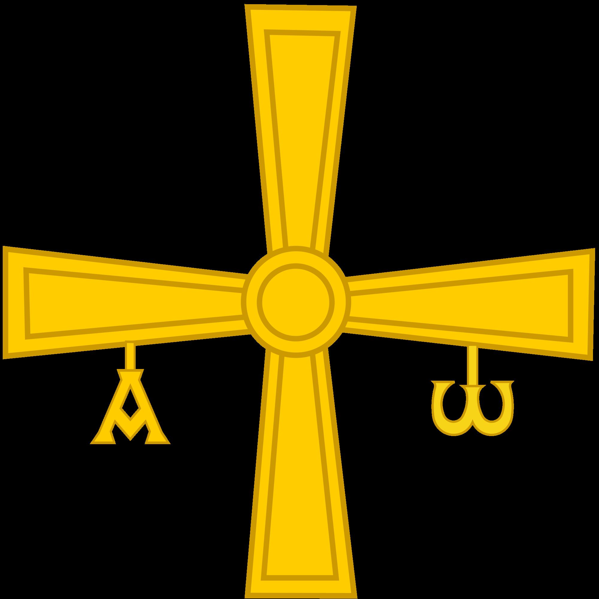 File de pe alba. Crucifix clipart cruz