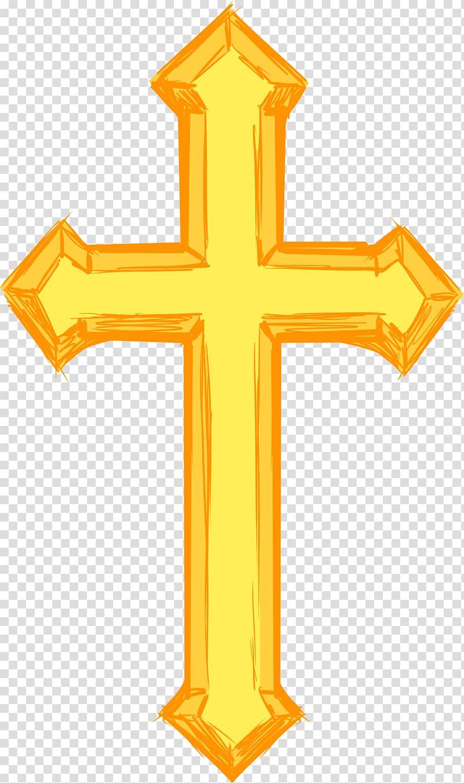Crucifix clipart decorative cross. Christian symbol transparent