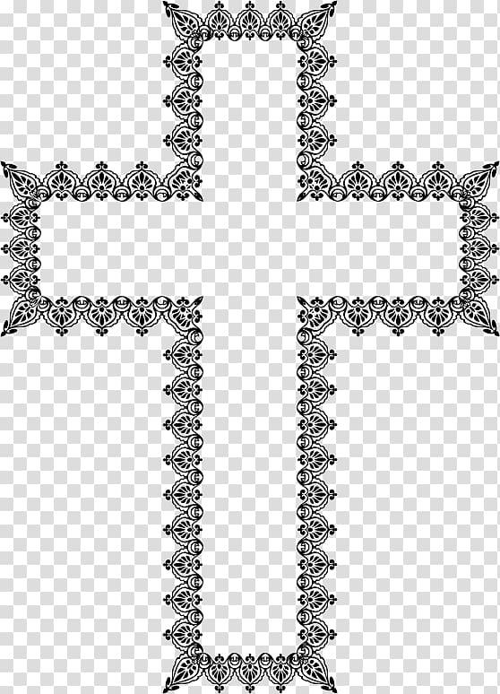 Crucifix clipart elegant cross. Christian transparent