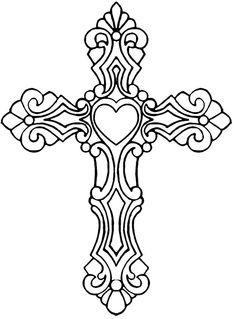 Clip art library . Crucifix clipart filigree cross