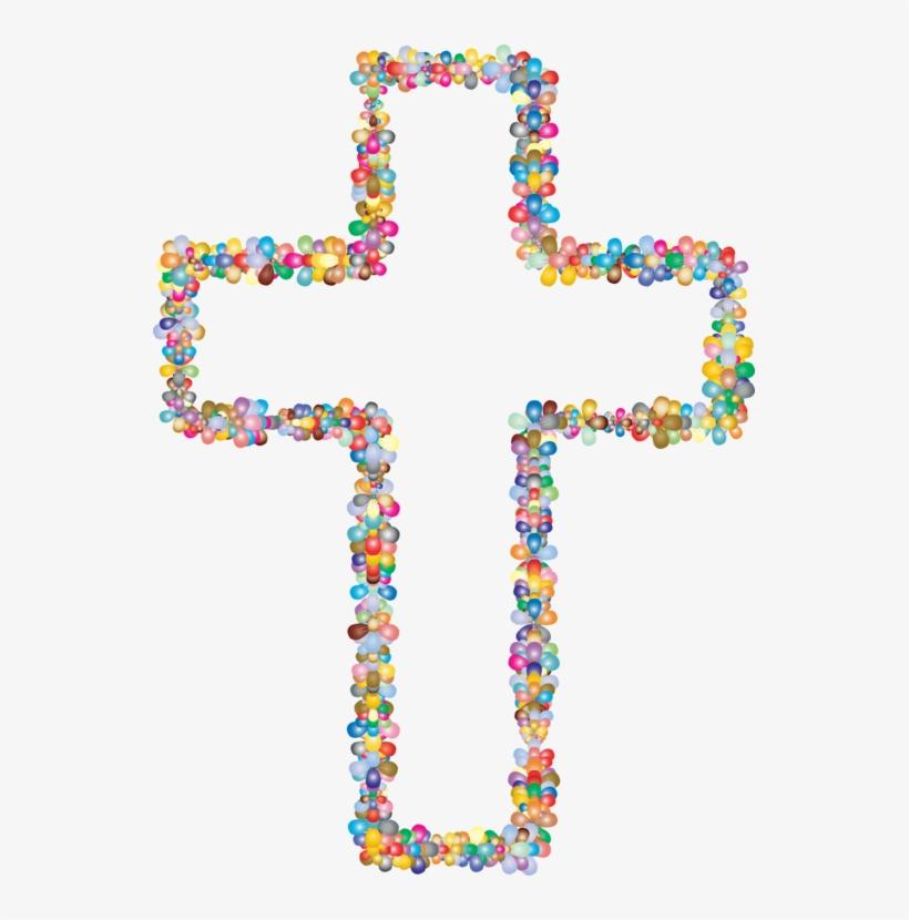 Christian cross computer icons. Crucifix clipart flower