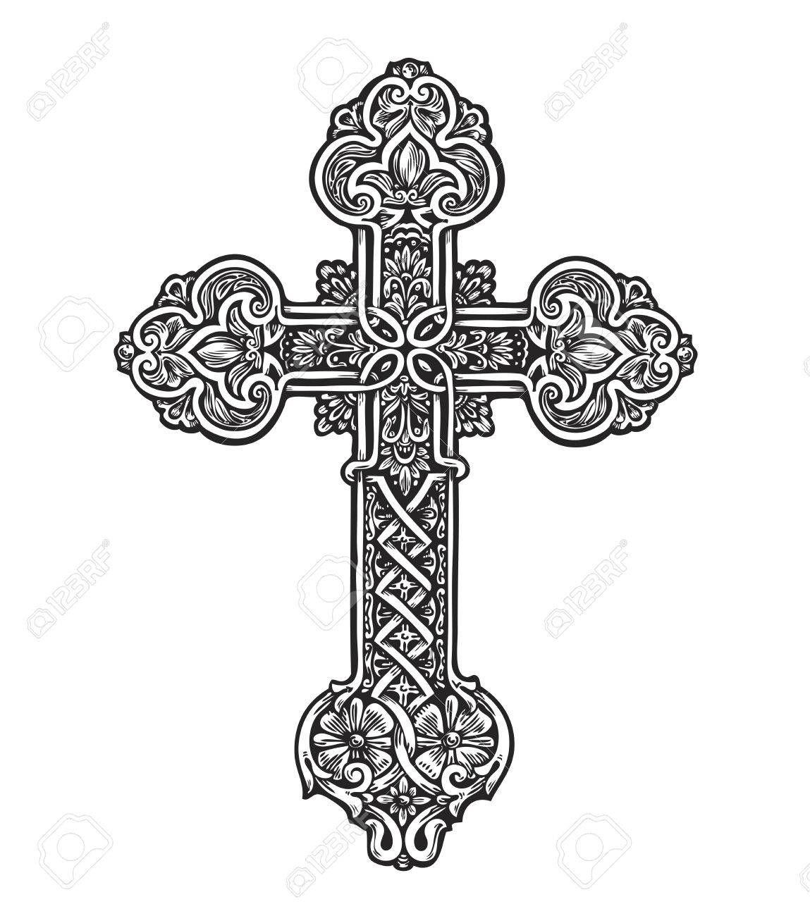 Design tattoo designs . Crucifix clipart ornate cross