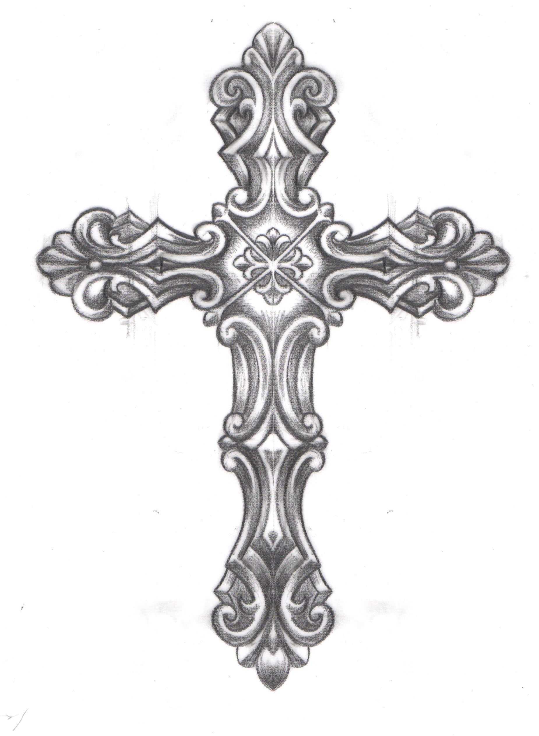 Crucifix clipart ornate cross. Caspian caspiandelooze religious