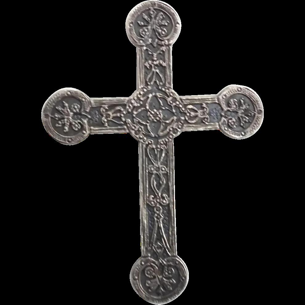 Christian necklace clip art. Crucifix clipart ornate cross