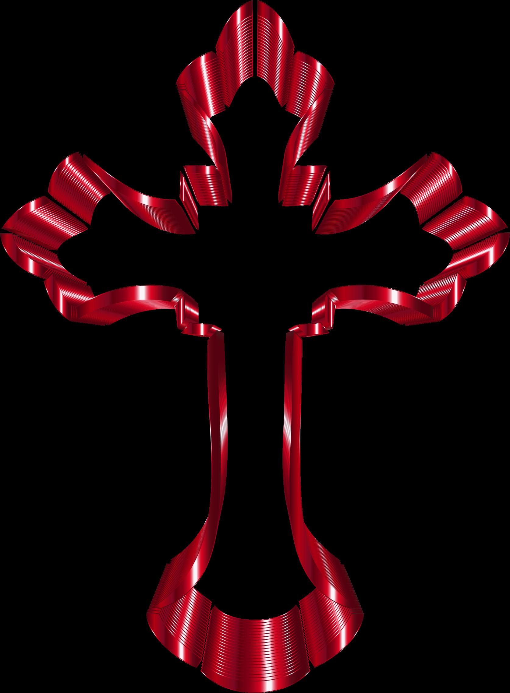 Crimson no background big. Crucifix clipart ornate cross