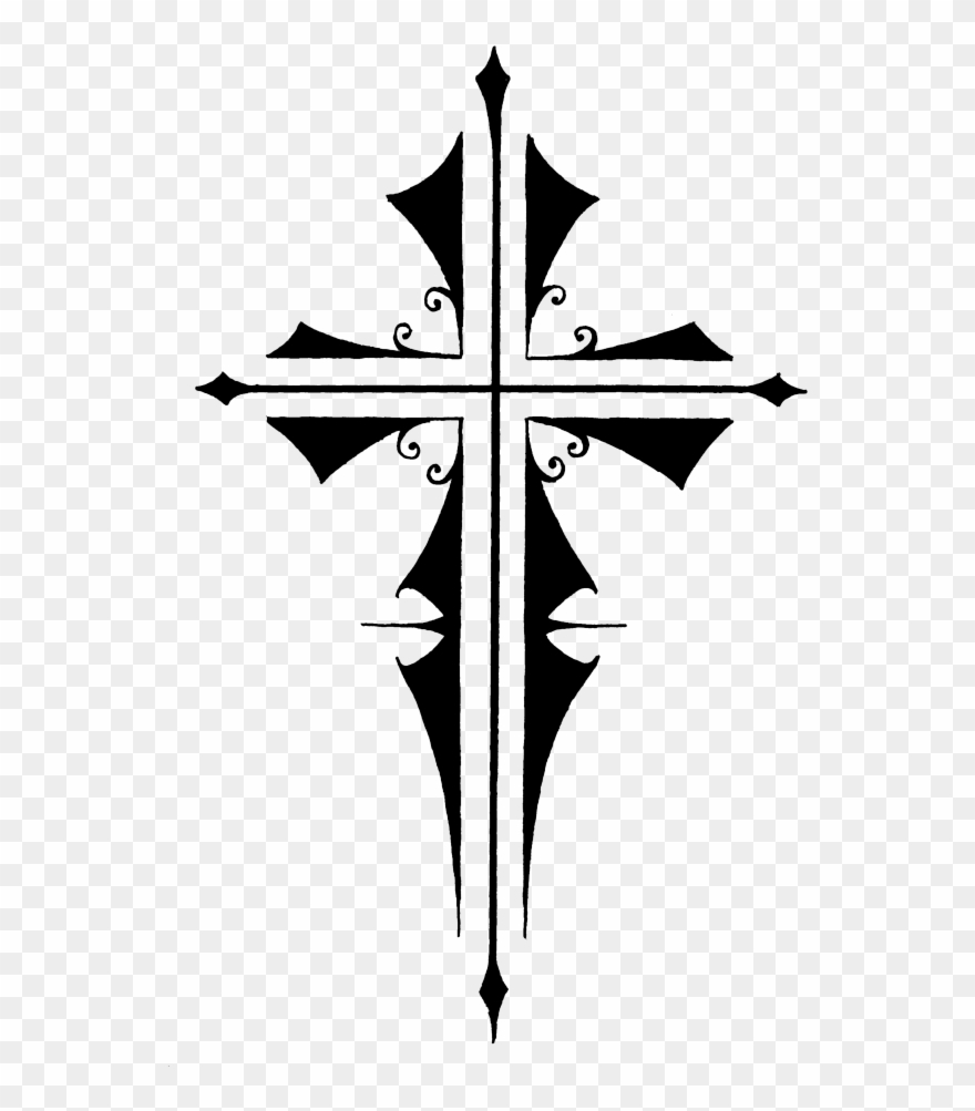 Crucifix clipart small cross. Tattoo letters png