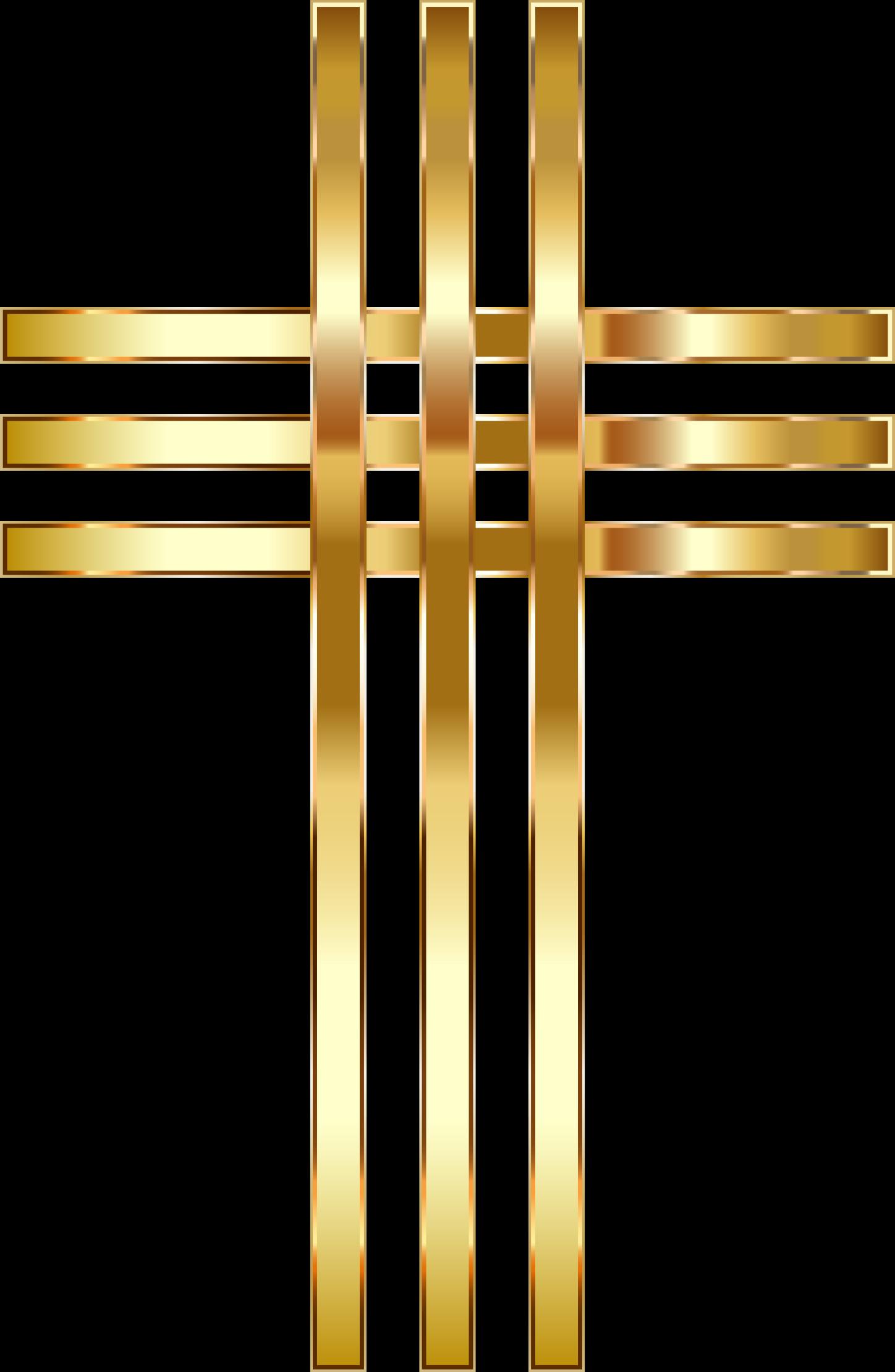 Crucifix clipart transparent background. Stylized golden cross no