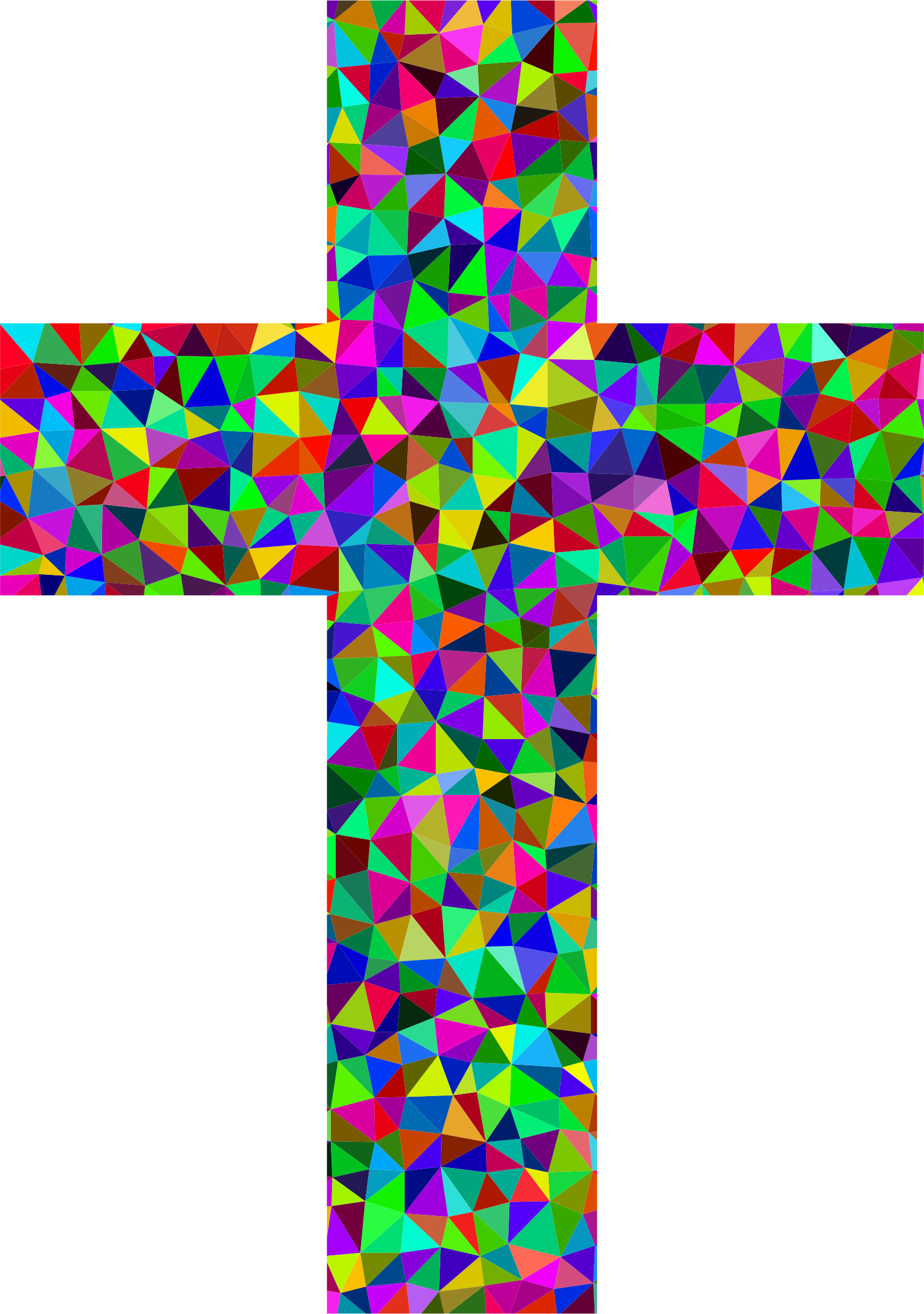 Crucifix clipart turquoise cross. Prismatic low poly big