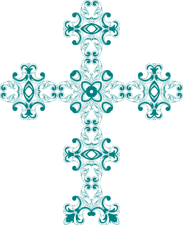 Visual arts symmetry png. Crucifix clipart turquoise cross