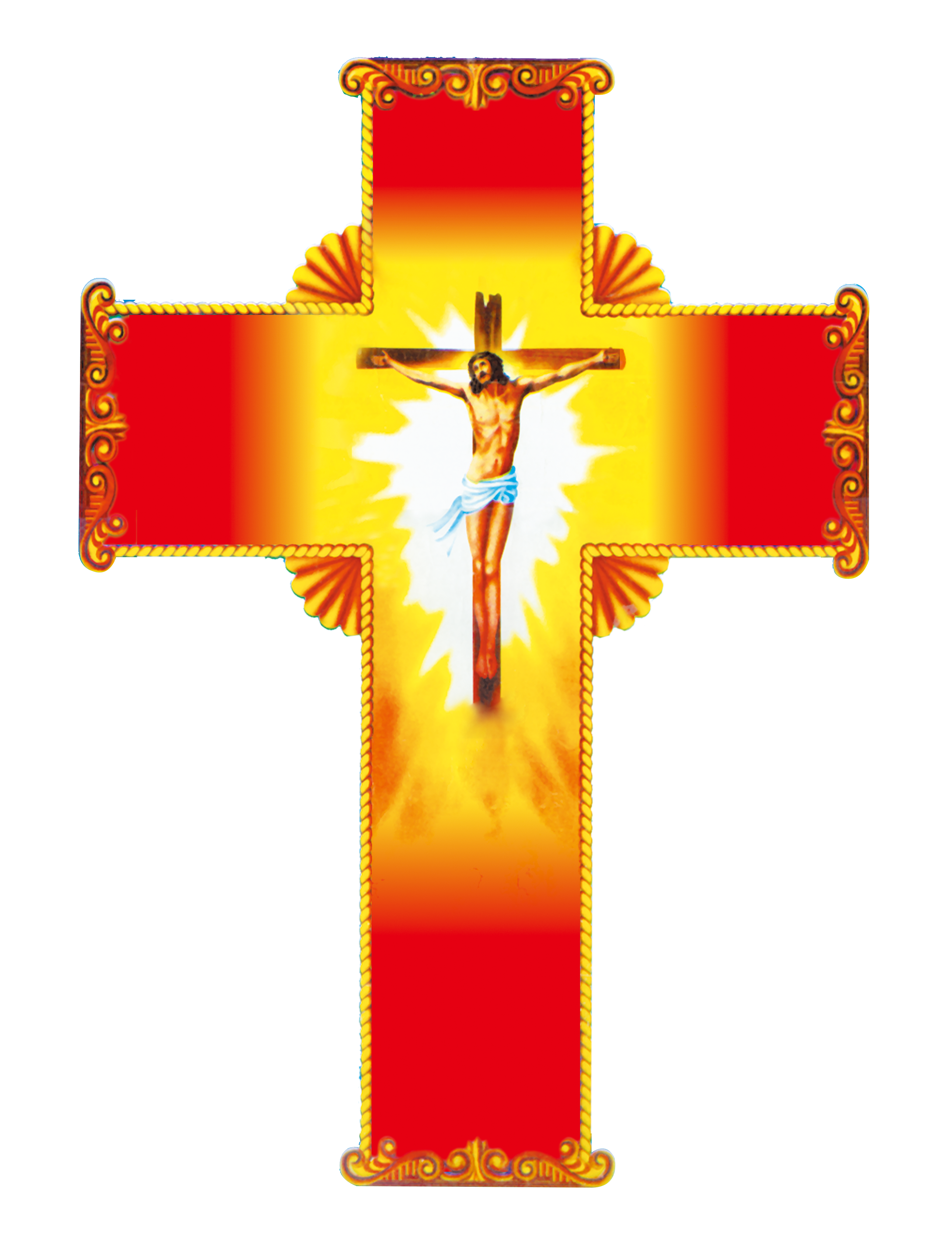 Christian red jesus material. Crucifix clipart wooden cross