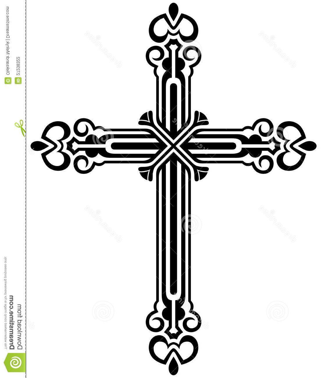 Crucifix clipart. Best hd black and