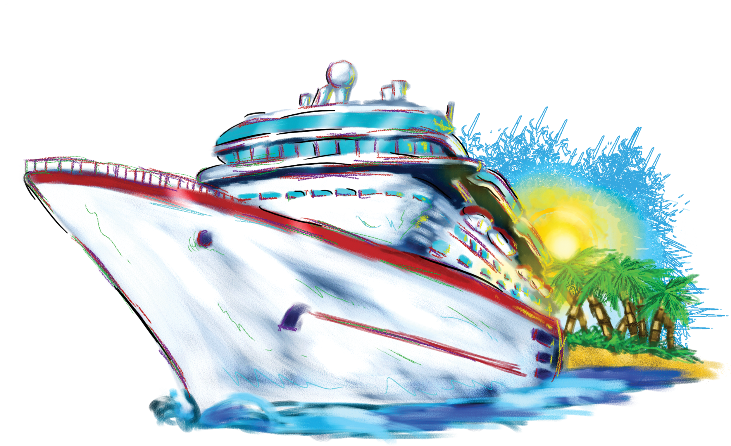 Cruise clip art free. Words clipart water