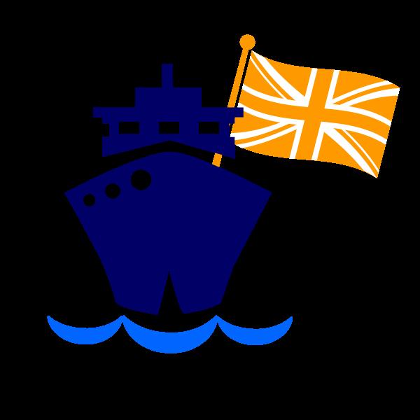 Cruise blue ship