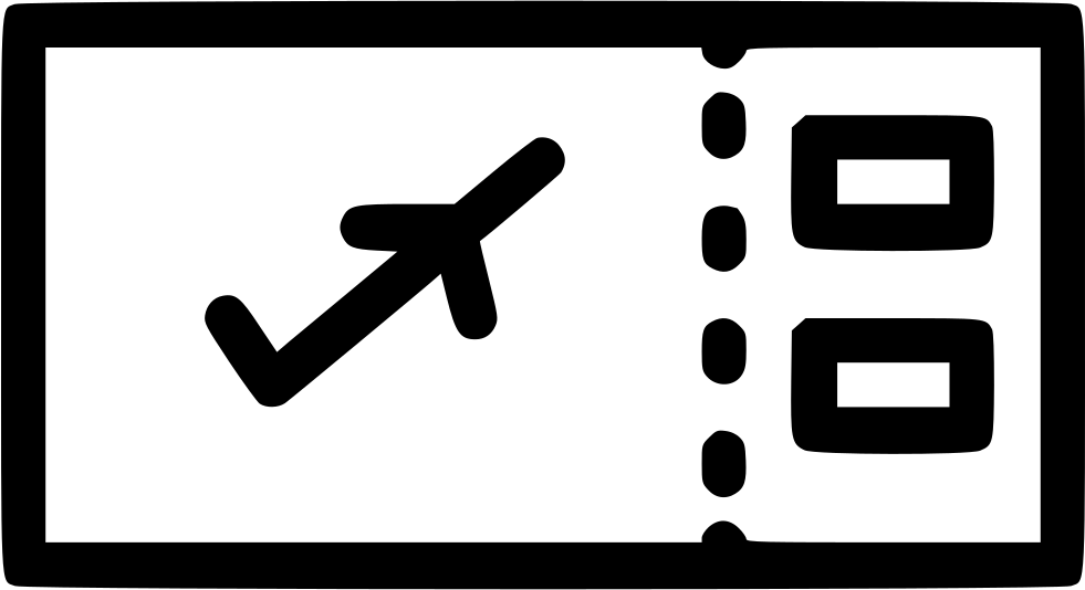 Flight Air Ticket Boarding Pass Svg Png Icon Free Download