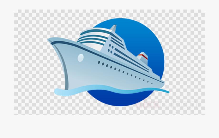 Ship mobile app development. Cruise clipart icon