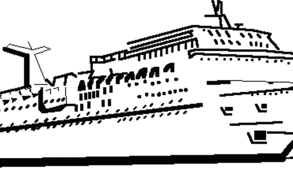Cruise clipart outline.  free ship clip