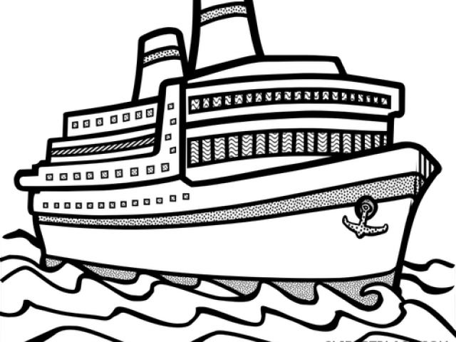 Cruise clipart outline. Hd ship black and