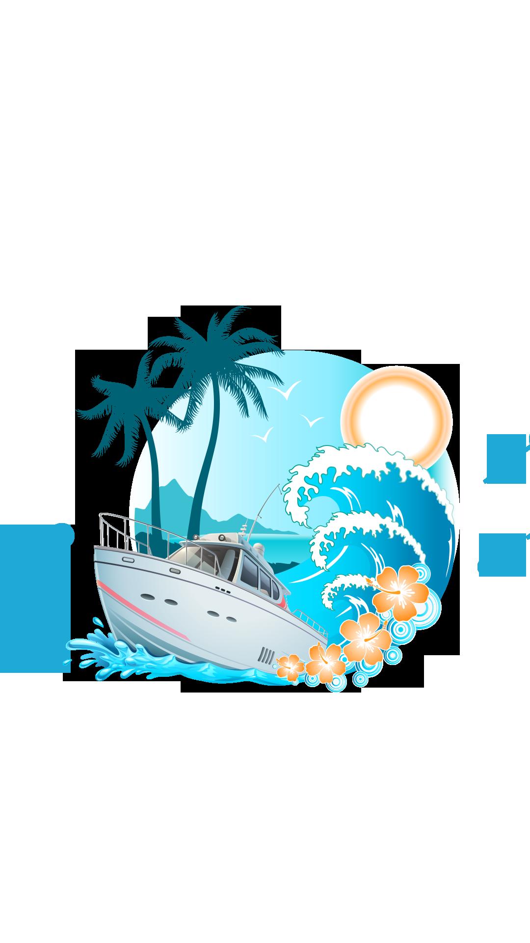 Tourism clip art island. Cruise clipart sea ship