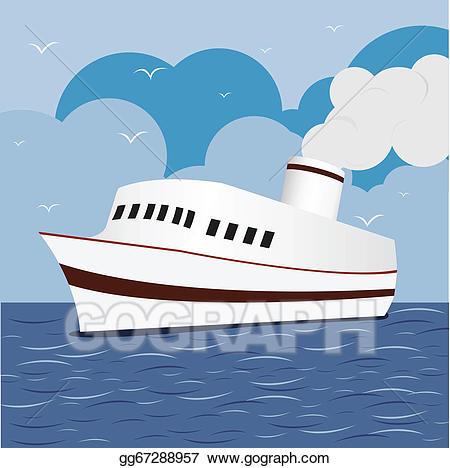 Cruise clipart sea ship. Clip art vector ocean