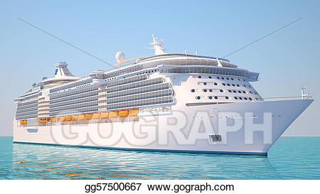 Stock illustration on the. Cruise clipart sea ship