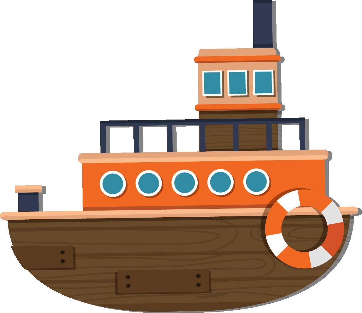Watercraft cartoon transprent png. Cruise clipart steam ship