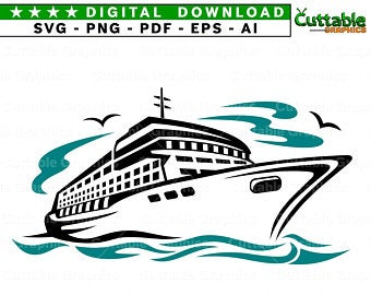 Cruise clipart svg. Clip art etsy