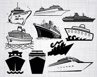 Ship etsy . Cruise clipart svg