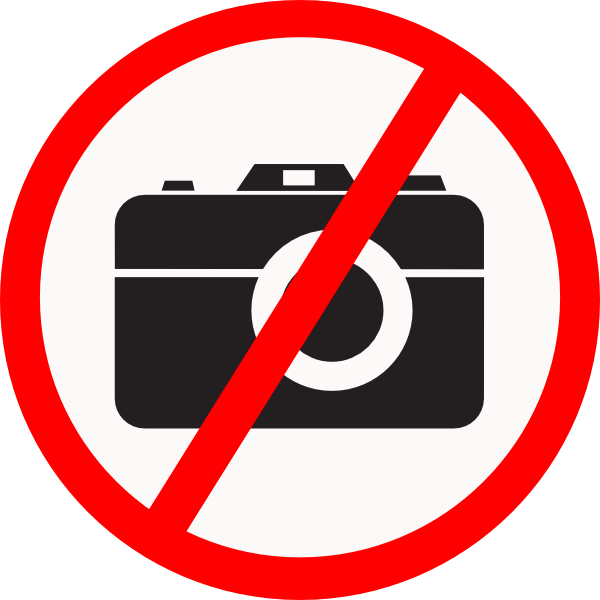 Camera allowed clip art. No clipart clker