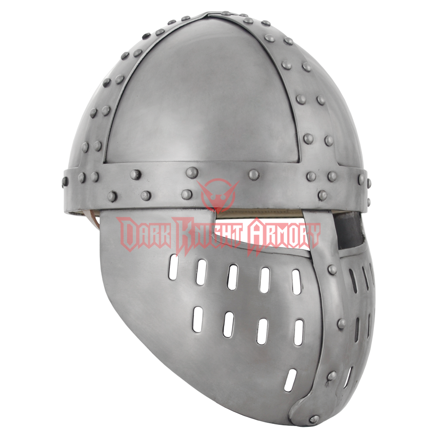 Crusader helmet png. Spangenhelm with face guard
