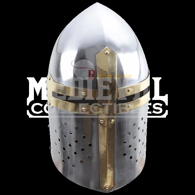 Crusader helmet png. Medieval sugar loaf np