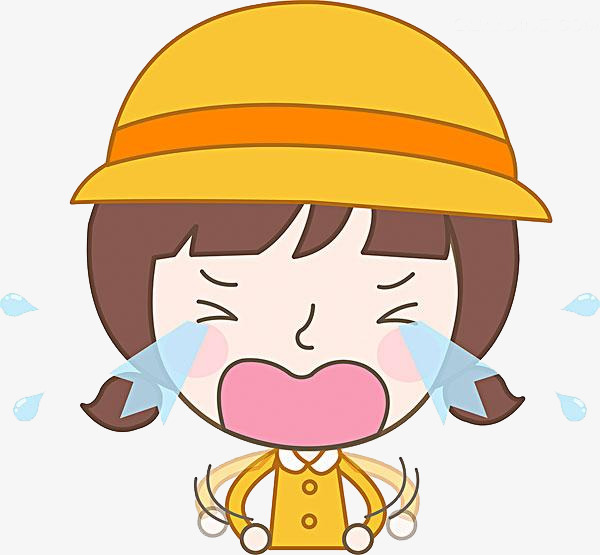 Crying child vector diagram. Cry clipart