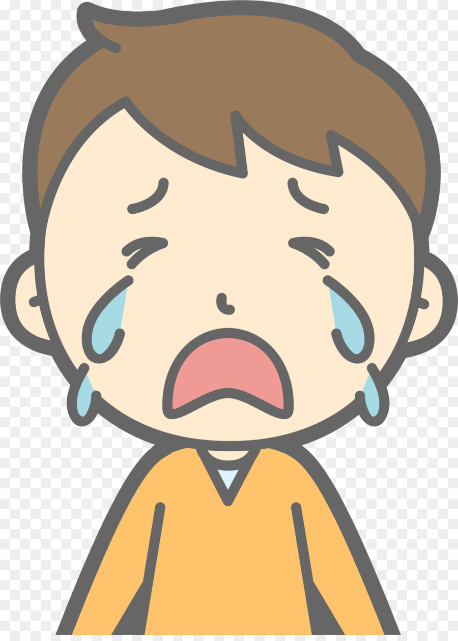 Cry clipart. The crying boy computer