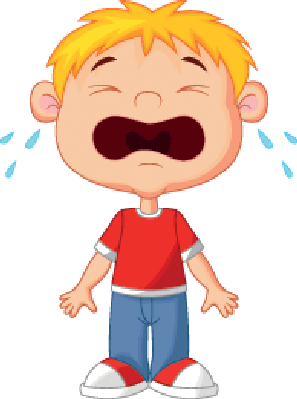 Cry clipart. Young boy cartoon crying