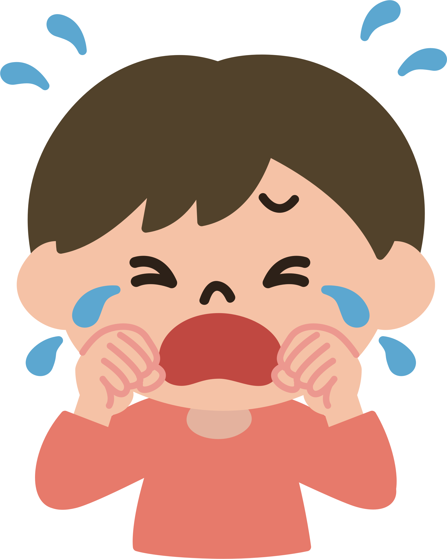 Crying male big image. Cry clipart