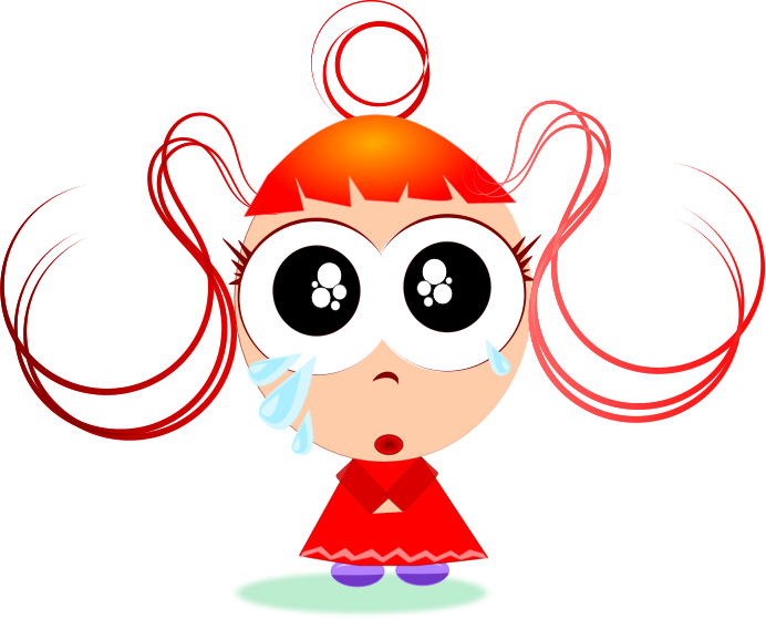 Free animated crying cliparts. Hungry clipart little girl