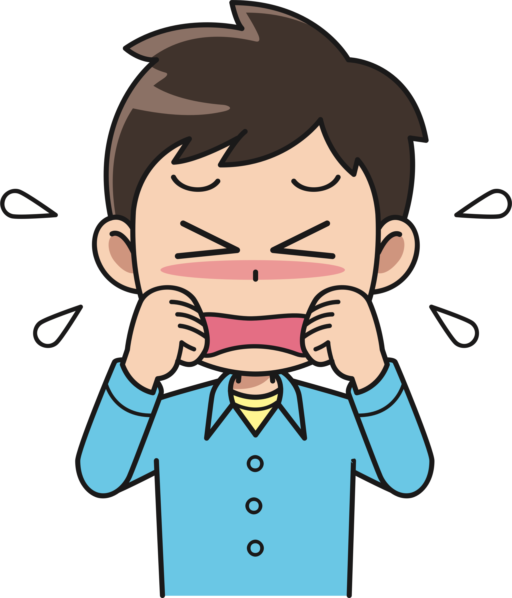 Cry clipart animated. Crying male big image