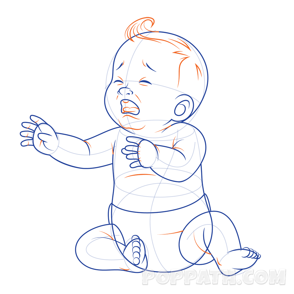Cry clipart baby cry. How to draw a