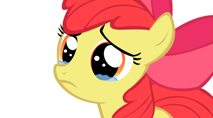 Cry clipart baby mouth. Applebloom crying by momoe