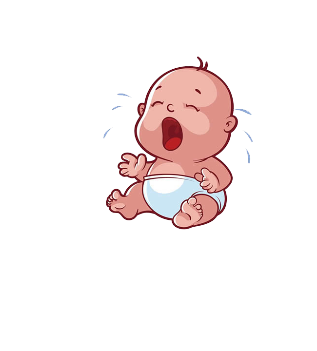 Infant cartoon drawing child. Cry clipart baby mouth