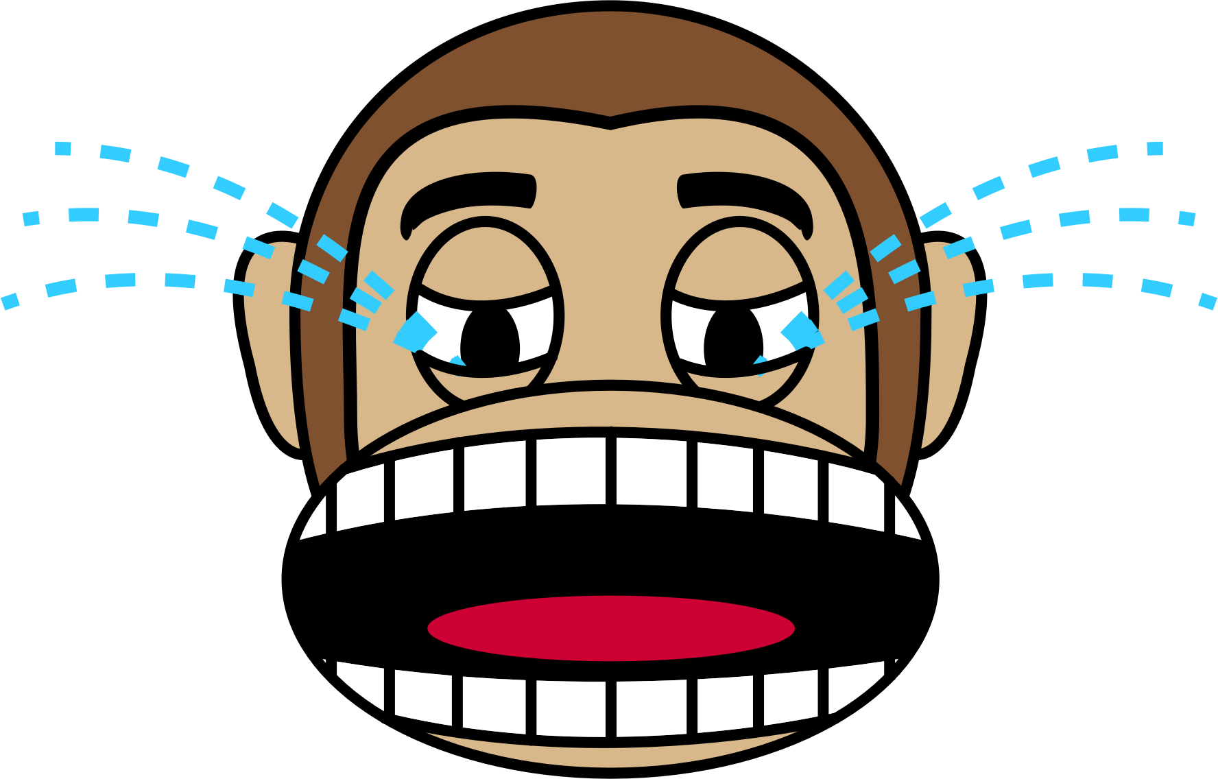 Cry clipart baby mouth. Monkey emoji loudly crying