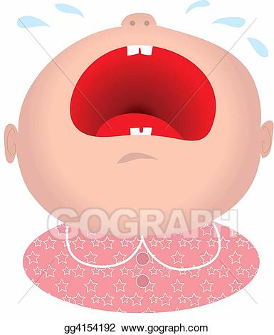 Stock illustration girl illustrations. Cry clipart baby mouth