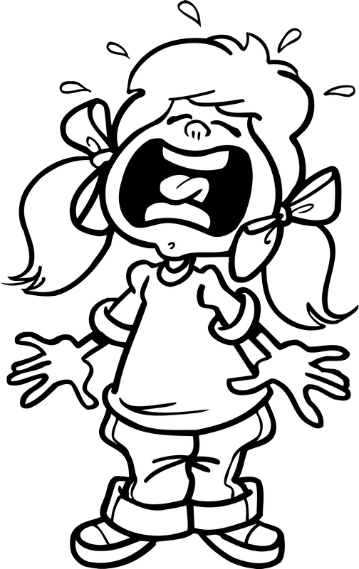 collection of crying. Yelling clipart black and white