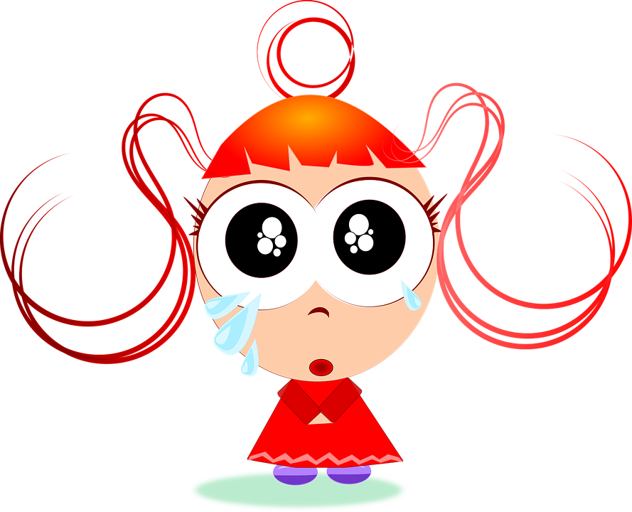 Hungry clipart sad. Cartoon girl free vector