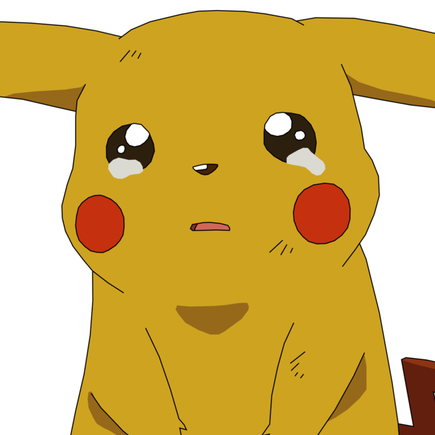 Pikachu crying by athosiana. Cry clipart cried