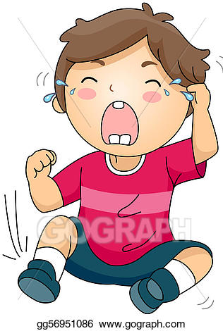 Cry clipart cry kid. Stock illustrations crying gg