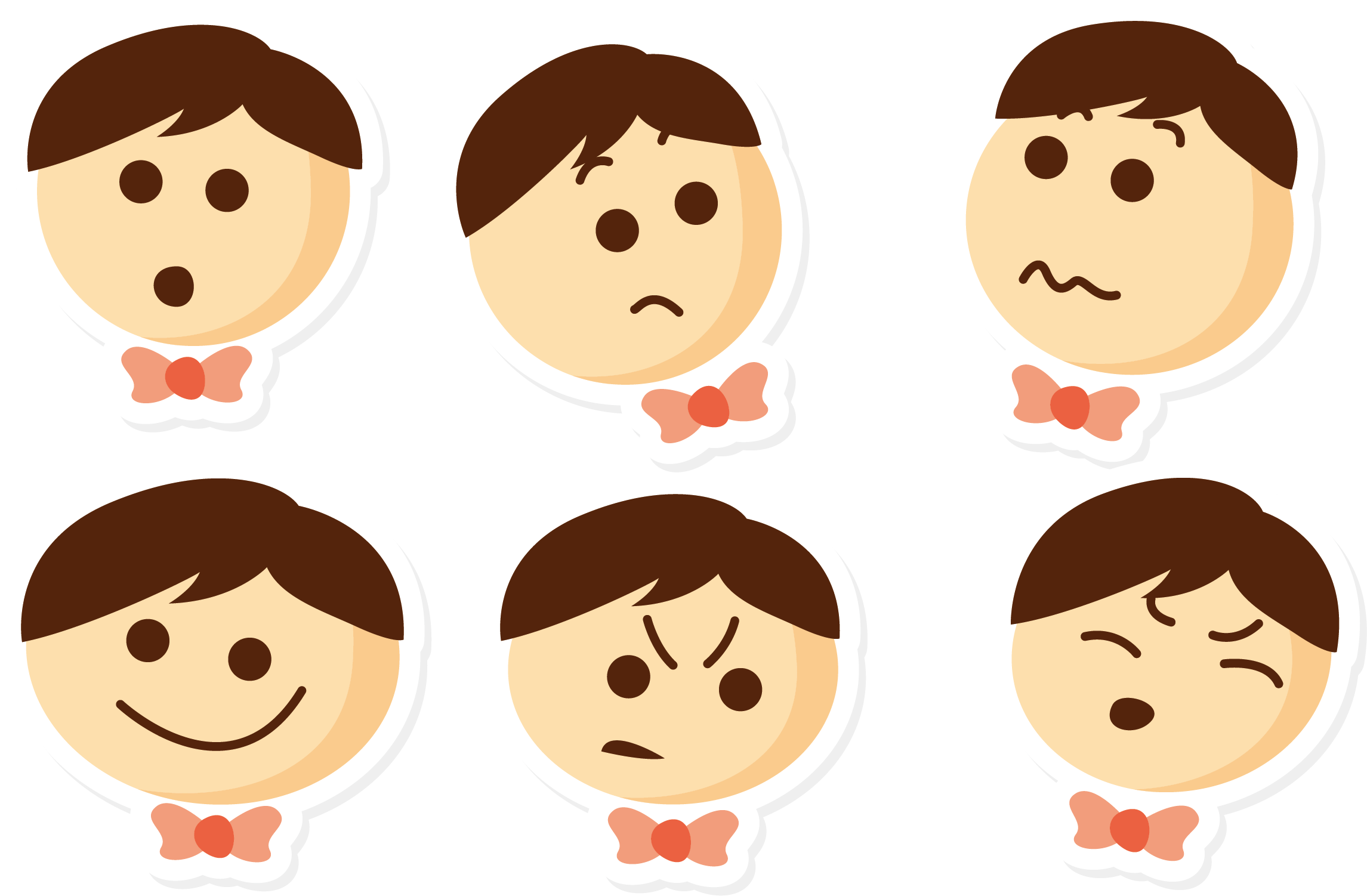 Facial expression child crying. Depression clipart sad girl