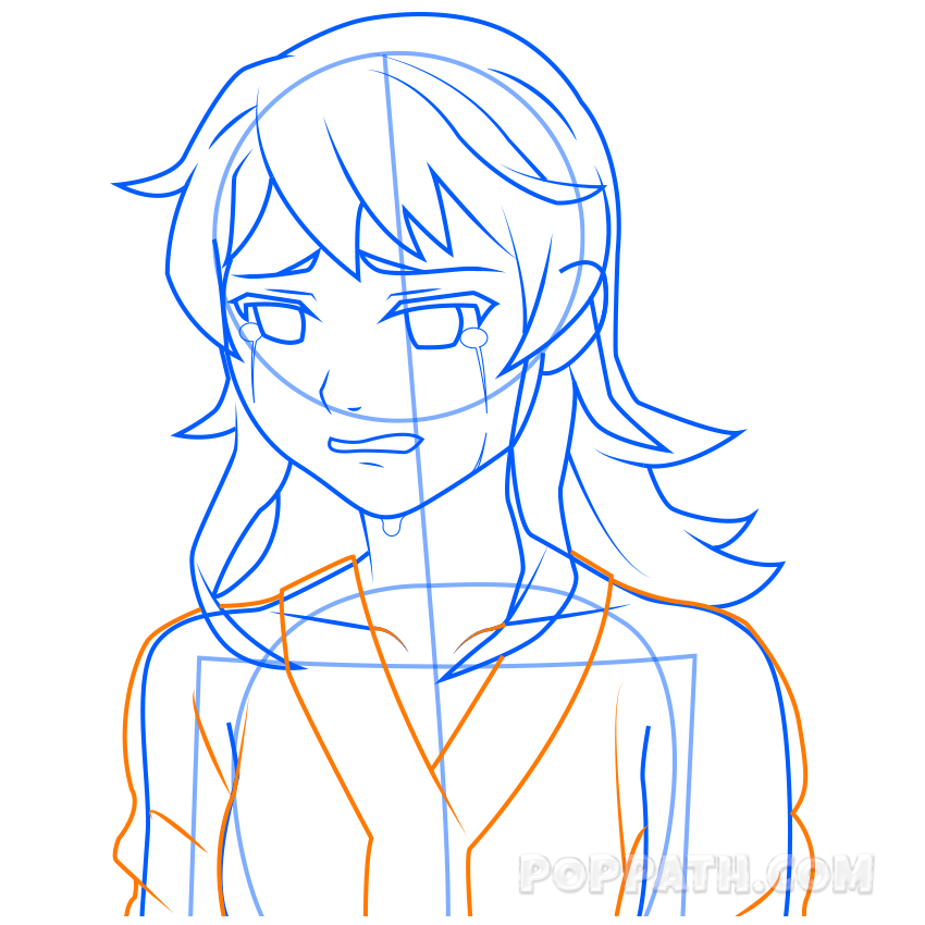 Young clipart cry. Girl crying drawing at