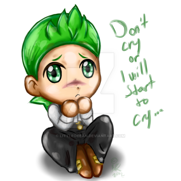 Cry clipart dont cry. Dento chibi don t