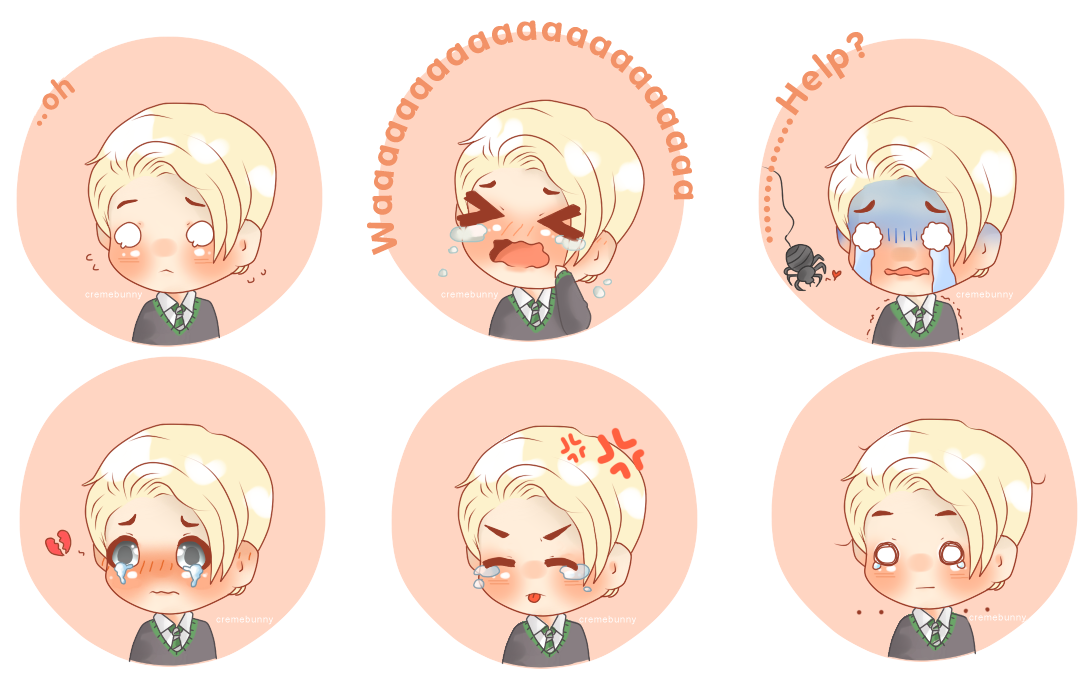 Cry clipart hysteria. Chibi draco crybaby expressions