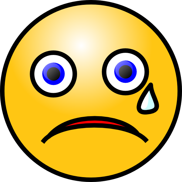 Crying smiley clip art. Cry clipart no cry